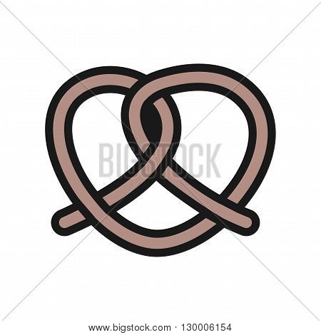Pretzel, snack, food icon vector image. Can also be used for bakery. Suitable for use on web apps, mobile apps and print media