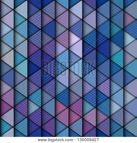Abstract seamless triangle pattern with a relief effect.