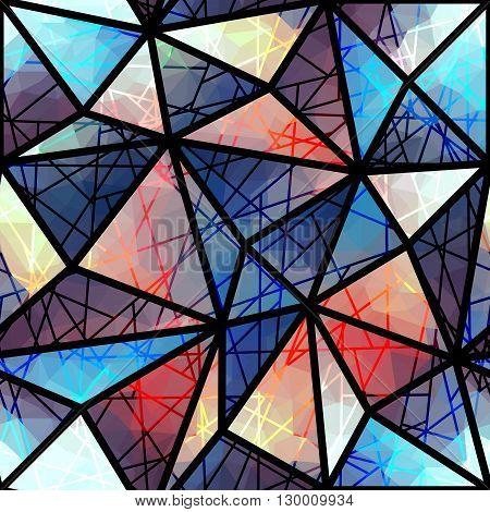 Seamless background pattern. Abstract moasaic and strikes geometric pattern.