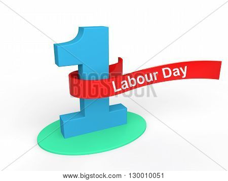 3d render of May 1st labour day themed design
