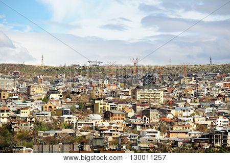 City view of Yerevan skyline