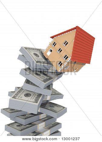 Falling house.