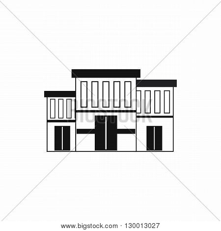 Police building icon in simple style on a white background