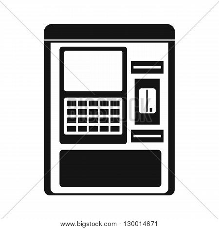 Atm machine icon in simple style on a white background