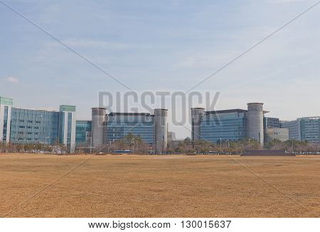 SEOUL SOUTH KOREA - MARCH 23 2016: Administration Complex near Incheon International Airport in Seoul Korea. Hosts Seoul Regional Office of Aviation and Airport Immigration Service