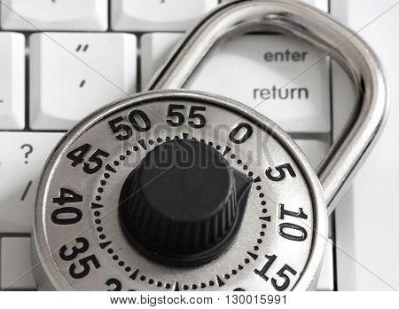 Lock with keyboard.