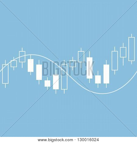 Candle stick graph chart of stock market. vector illustration