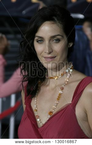 Carrie-Anne Moss at the Los Angeles premiere of 'Collateral' held at the Orpheum Theatre in Los Angeles, USA on August 2, 2004.