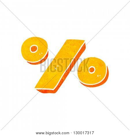 freehand retro cartoon percentage symbol