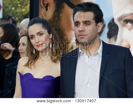 Rose Byrne and Bobby Cannavale at the Los Angeles premiere of 'Neighbors 2: Sorority Rising' held at the Regency Village Theatre in Westwood, USA on May 16, 2016.