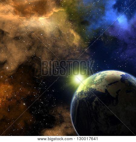 Earth And Nebulas