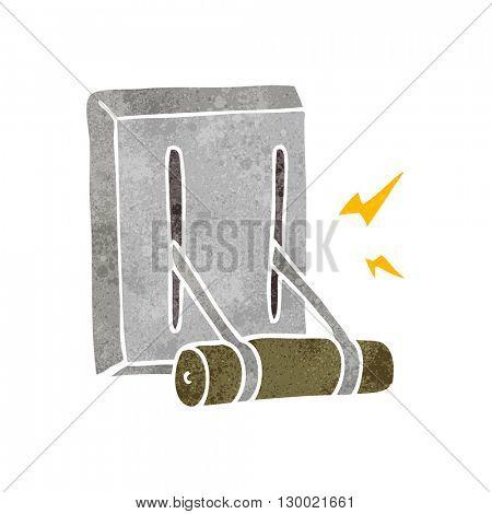 freehand retro cartoon electrical switch