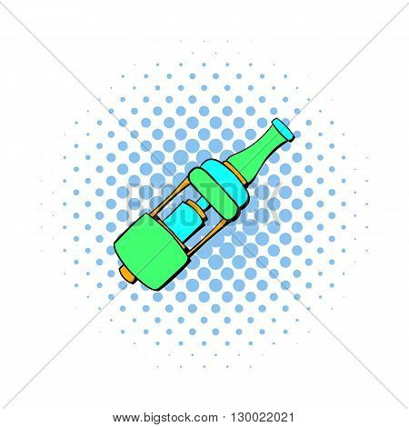 Electronic cigarette mouthpiece icon in comics style isolated on white background