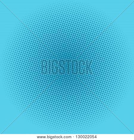 Pop Art Background, Dots on Blue Background, Halftone Background,  Retro Style, Vector Illustration