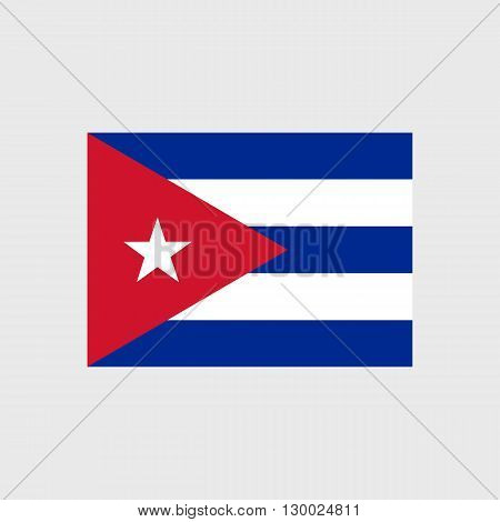 Set of vector icons with Cuba flag