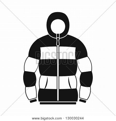 Hoodie icon in simple style on a white background