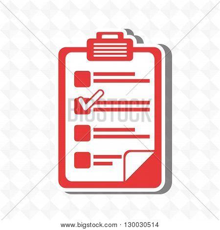 checklist icon design, vector illustration eps10 graphic