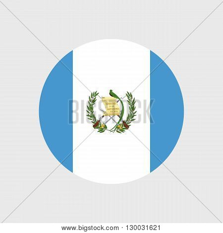 Set of vector icons with Guatemala flag