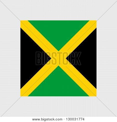 Set of vector icons with Jamaica flag