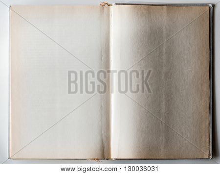 Blank Book Opened To The Last Page.