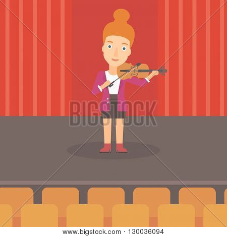 Woman playing violin.