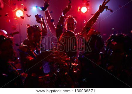 Fun in nightclub