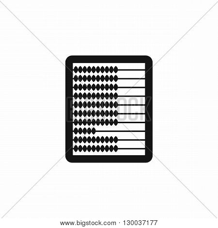Abacus icon in simple style on a white background