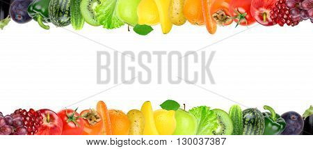 Fruits and vegetables. Healthy food concept. Fruits and vegetables