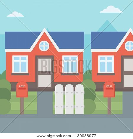 Background of suburban house.