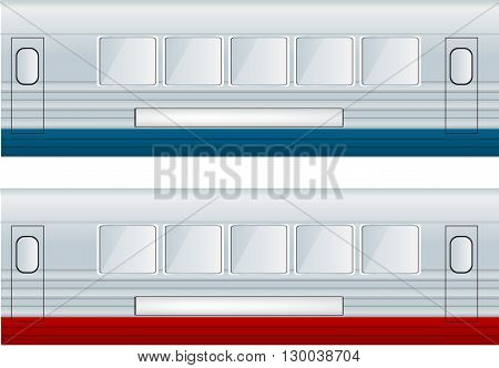 Two Train Cars vector illustration on white