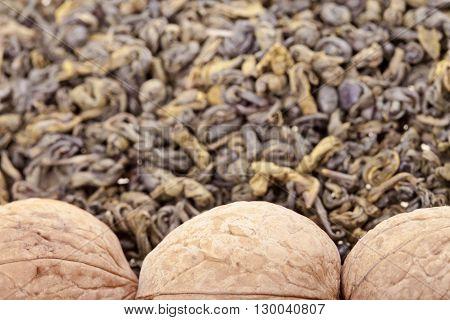 Green Tea And Walnuts
