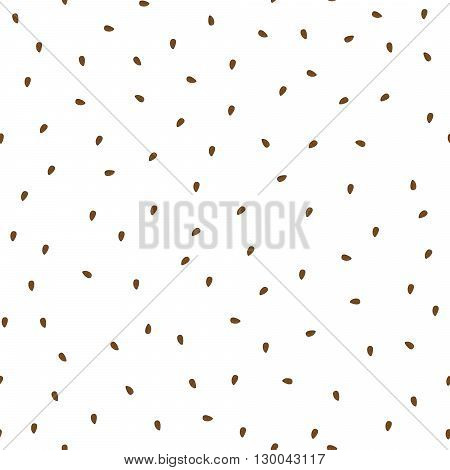 Flaxseeds seamless vector pattern. Packaging linseeds background design.