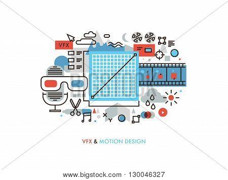 Vfx And Motion Design Monoflat Illustration