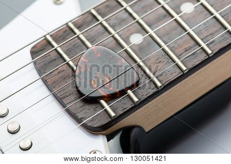 Guitar Frets With Strings And Mediator