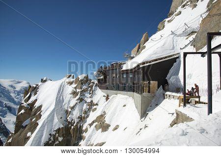 Mountain Peak Aiguille du Midi, CHAMONIX, France Altitude: 3842 meters