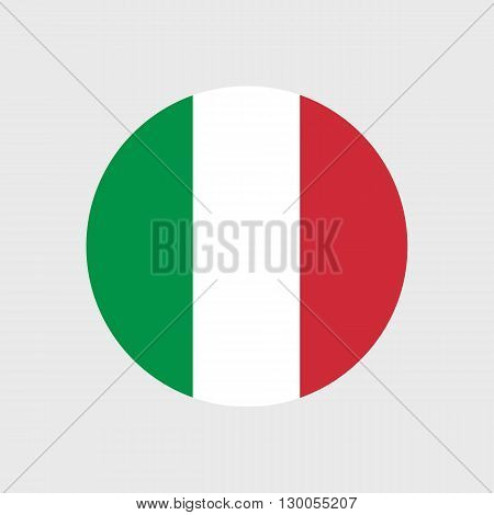 Set of vector icons with Italy flag