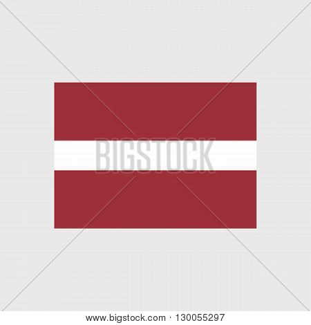 Set of vector icons with Latvia flag