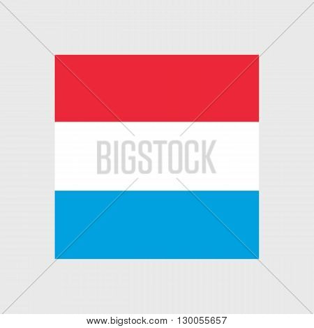 Set of vector icons with Luxembourg flag