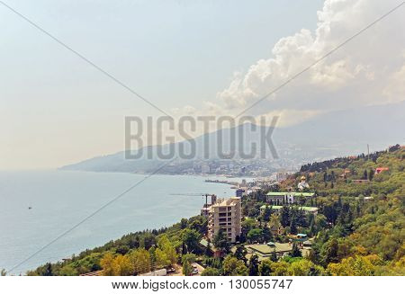 Crimea, Russia - August 17. 2014: black sea coast in Crimea
