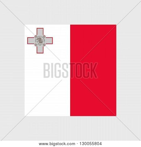 Set of vector icons with Malta flag