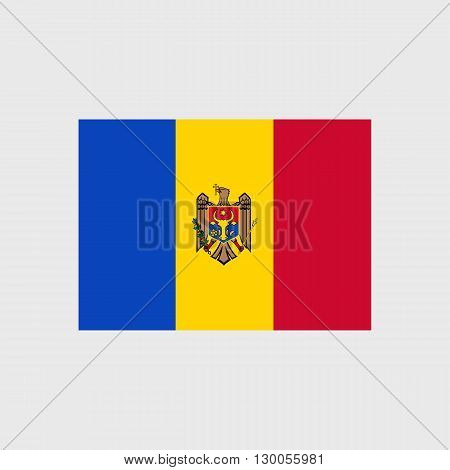 Set of vector icons with Moldova flag