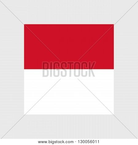 Set of vector icons with Monaco flag