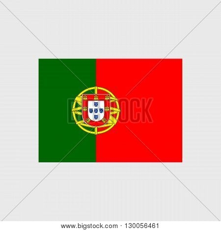 Set of vector icons with Portugal flag