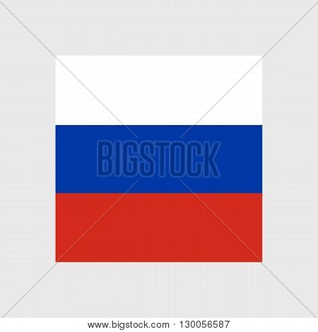 Set of vector icons with Russian Federation flag