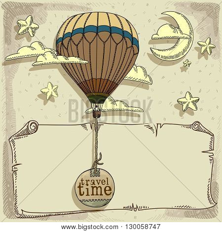 unforgettable experience of a new journey in a balloon in the summer time
