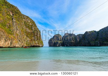 the Maya bay Phi Phi Leh islandThailand