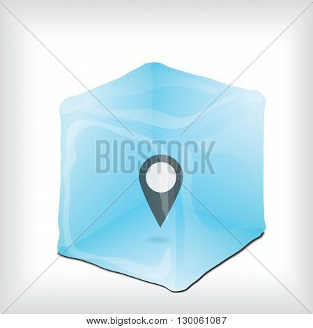Background with Icon for your design, gps icon