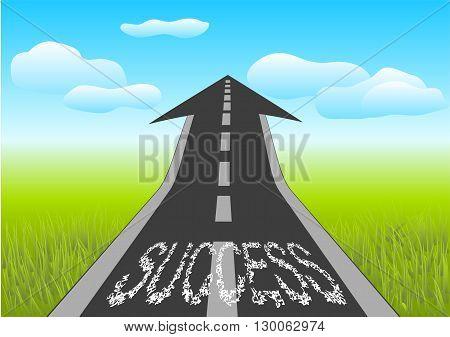 success. wy as arrow in the sky