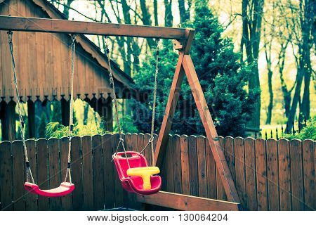 Wooden Sway For Children. Outdoor Backyard Garden Sways.