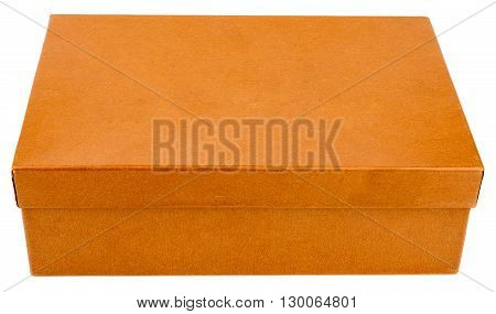 Orange closed box isolated on white background